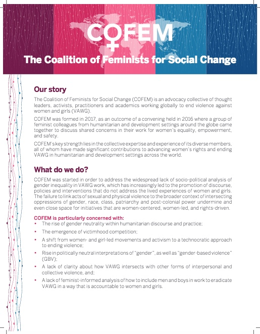 COFEM – Coalition of Feminists for Social Change